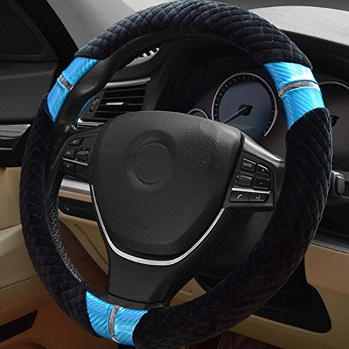 Calcifer Hohe Qualität Elegant Vier Saison Universal Anti-Rutsch Plüsch Auto Lenkrad Bezug, # wi001