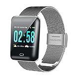 SAWEY Miss-an Fitness Armband, Smartwatch Wasserdicht Smart Watch Sport Uhr,Schrittzähler Uhr,Stoppuhr für Herren Damen Vibrationsalarm Anruf SMS Geeignet für iPhone Android Handy