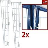 2x Trixie Kippfenster-Schutzgitter, Kunststoff, Seitenteil, 62x16/7cm, weiß