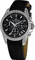 Jacques Lemans Damen-Armbanduhr XS Chronograph Quarz Leder 1-1724A