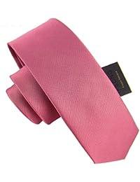 a96e0f67c JINSH 6 cm Rosa sólido Flaco Corbata Arte clásico diseño Hombres 100%  Corbata de Seda Fiesta del Todo-fósforo…