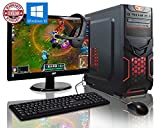 Computers Best Deals - ADMI GAMING PC PACKAGE: Powerful Desktop Computer, 21.5 Inch 1080p Monitor, Keyboard & Mouse Set (PC SPEC: AMD A6-6400K 4.1GHz Dual Core Processor with Radeon HD 8470D Graphics, USB 3.0, 500W PSU, 1TB Hard Drive, 8GB RAM, 24 x DVDRW Drive, Wifi, Red D