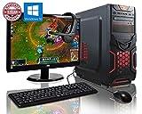 Desktops Best Deals - ADMI GAMING PC PACKAGE: Powerful Desktop Computer, 21.5 Inch 1080p Monitor, Keyboard & Mouse Set (PC SPEC: AMD A6-6400K 4.1GHz Dual Core Processor with Radeon HD 8470D Graphics, USB 3.0, 500W PSU, 1TB Hard Drive, 8GB RAM, 24 x DVDRW Drive, Wifi, Red D