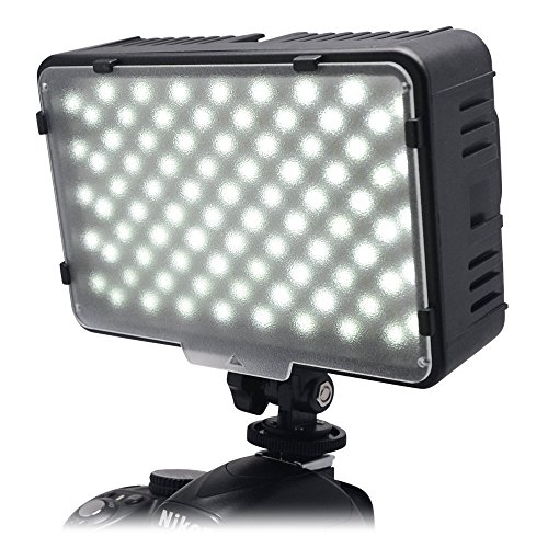 Mcoplus LED-168A 3200K-5500K Ultra High Power pannello digitale fotocamera / videocamera LED luce LED Studio per videocamera fotocamera reflex digitale Canon, Nikon, Pentax, Panasonic, Samsung e Olympus