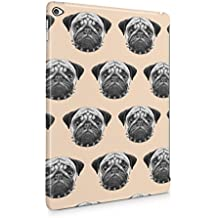 Pugs Pattern Print Pale Pink Pattern Apple iPad Air 2 Snap-On Hard Plastic Protective Shell Case Cover Carcasa
