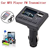 Bluetooth FM Transmitter , Colorful(TM) Auto Musik MP3-Player FM Transmitter Dual-USB-Lade SD MMC Remote