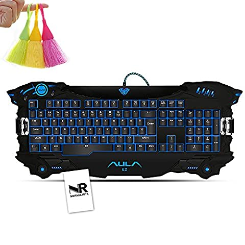 Normia Rita EZ Future Warrior LOL Tricolor Backlit, Laser Processing Keys, E-sports Level Configuration Gaming Keyboard - Black