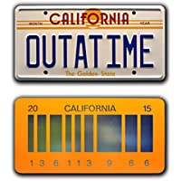Back to the Future | OUTATIME + 2015 | Metal License Plates