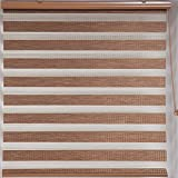 "Upscale Designs 20215 Bamboo-Inspired - Zebra Sheer Striped Roller Blind / Shade, 24"" x 78"""