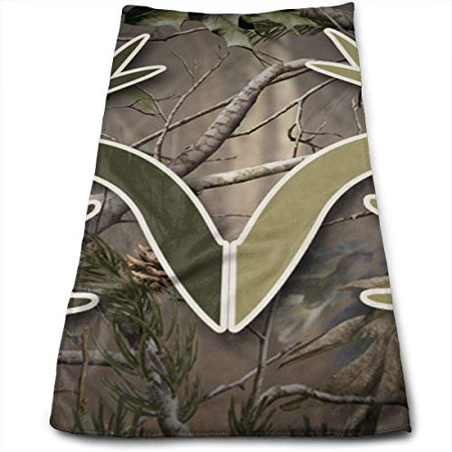 RAINNY Realtree Camo Wallpapers Cotton Bath Towels for Hotel-Spa-Pool-Gym-Bathroom - Super Soft Absorbent Ringspun Towels 30x70 cm -