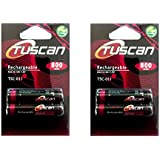 2 Packs Of Tuscan AAA 800 MAh Rechargeable Battery …