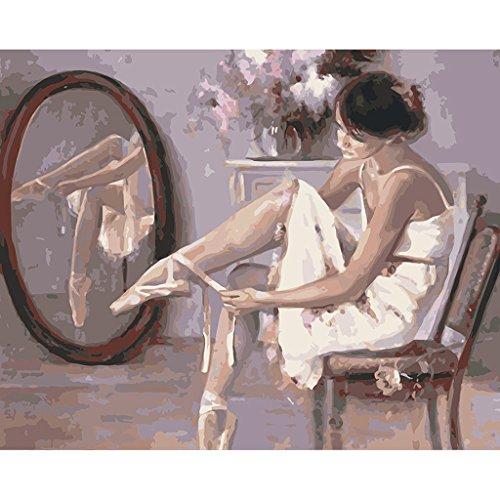 wiffe Ballerina-Schuhe, rahmenlos, Malen nach Zahlen, 40x 50cm