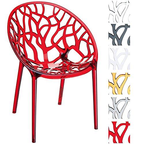 CLP Design-Gartenstuhl CRYSTAL aus Kunststoff I Wetterbeständiger Stapelstuhl mit einer maximalen...