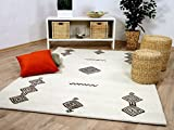 Theko Natur Teppich Berber Aruna Wollweiss Medaillon in 7 Größen