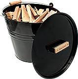 Valiant Fireside Black Gloss Storage Range