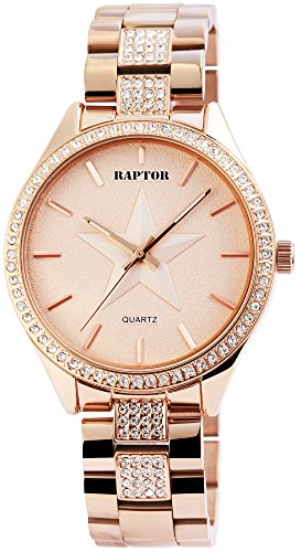 Raptor Damen Uhr Analog Quarz Edelstahl Armband RA10162-002