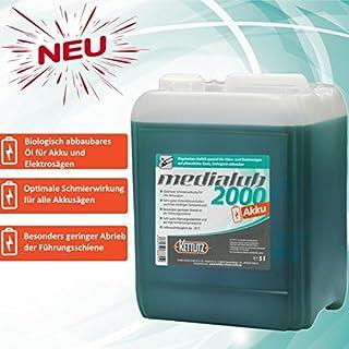 Medialub 2000 AKKU / Elektro Kettensäge Motorsäge Kettenöl 5 L / 5 Liter