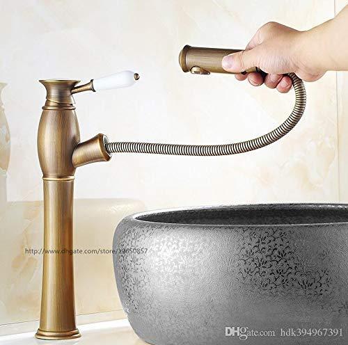 Neue Arrivel Kostenloser Versand Zeitgenössische Moderne Open Outlet Wasserhahn Bad Out Out Waschbecken Wasserhahn in Antiken Messing Großhandel Hahn, B -