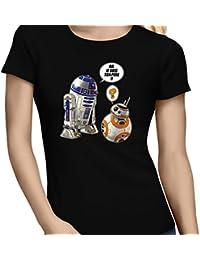 T-Shirt - BB, je suis ton père...!! - T-shirt Femme Noir - Haute Qualité