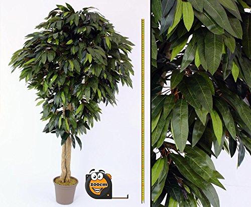 Künstlicher Mangobaum mit 1800 Blätter mit 200cm in Premium Qualität