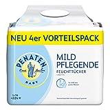Penaten Mild Pflegende Feuchttücher, Babypflegetücher ohne Alkohol, dermatologisch getestet, VorteilsPack 4er Pack (4 x 56 Stück)