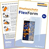 4 x mumbi FlexForm Schutzfolie für iPhone 8 / iPhone 7 Folie (TPU Displayschutzfolie legt sich passgenau um das gebogene Display)