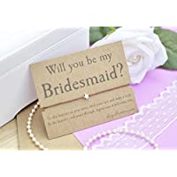 Bridesmaid Wish Bracelet, Will You Be My Bridesmaid, Bridesmaid Proposal, Make a Wish Bracelet, Cord Bracelet and Gift Card, Choice of Cord Colours.