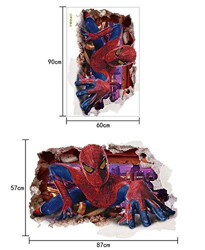 Wandtattoo Wandaufkleber Wandsticker Marvel Superheld Spiderman Spinnen Mann Kinderzimmer 57 x 87 W205 Viwaro