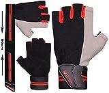 Xtrim Pro Firm Unisex Leather Gloves, XL (Black)