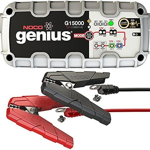 NOCO Genius G15000EU 12V/24V 15A Smart Batterieladegerät (Pkw Batterieladegerät)