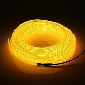 jiguoor Tubo LED flexible suave de 20m el Wire Neon Glow coche tira de cuerda Luz de Navidad decoración DC 12V Navidad decoración para el hogar
