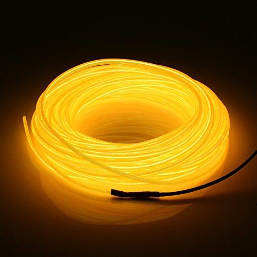 iguoor 20 m EL LED flexible Soft Tube Fil Neon Glow Corde de voiture Strip Light Noël Décor DC 12 V Décoration de Noël