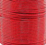 Textilschnur, Kordel, Band (Polyester), für Schmuck, Ketten, Armband, basteln, selber machen, 1mm Zuschnitt 1,00m, rot