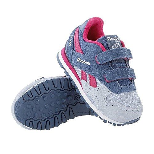 Reebok Bd2443, Scarpe da Trail Running Bambina Grigio (Gable Grey/Brave Blue/Pink Craze/White)