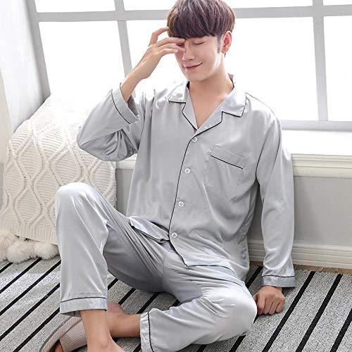 Home + Pijama Púrpura Ropa De Dormir Hombre Camisa