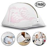 Vitutech Wäschenetz, Wäschenetz für Schuhe/Sneaker 2 Stück, Multi Schutz Wäschenetz Wäschebeutel für die Reise Wäschesack Netz für Waschmaschine,Weiß