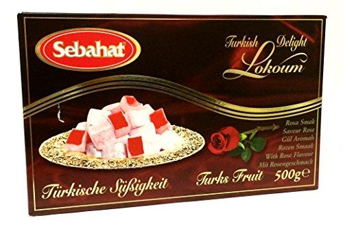 Sebahat - Türkischer Honig mit Rosenaroma - Gül aromali lokum (500g) -