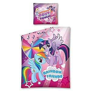 My Little Pony Arc En Ciel Amis Housse de Couette et Taie Unique