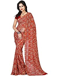 Aaradhya Fashion Women'sCrepe Saree With Blouse Piece (AFMOSS-0173_Maroon)