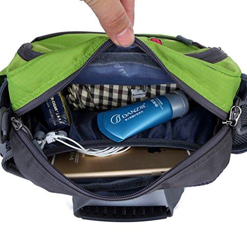 Medifier Unisex Herren Sport Beinbeutel Taschen Hüfttasche Gürteltasche Tasche Bauchtasche Trinkflasche Halter Pouch Outdoor Grün