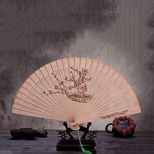 ZHANGBIN Chinesischer Stil Tanz-Fan Hanfu Damen Sommer Kostüm Klassisch Faltfächer, Holz, Farbe, 5 (Werbung Symbol Kostüm)