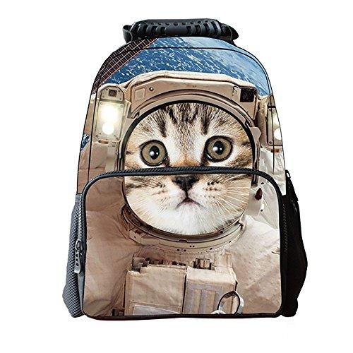 Nette Schultasche Student Rucksäcke Freizeit Kinder Tasche Unisex 3D Print Katze Tiger Tier (PATTERN : Pattern1)
