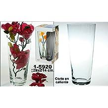 DonRegaloWeb - Jarrón de cristal transparente de Bohemia redondo liso