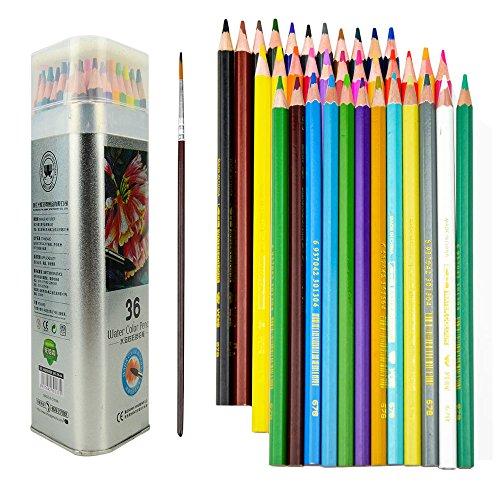 36colores lápices de acuarela, misterio 36colores agua soluble lápices de colores de los estudiantes de arte para colorear libros dibujo escritura dibujo Doodling, mejor para niños y adultos