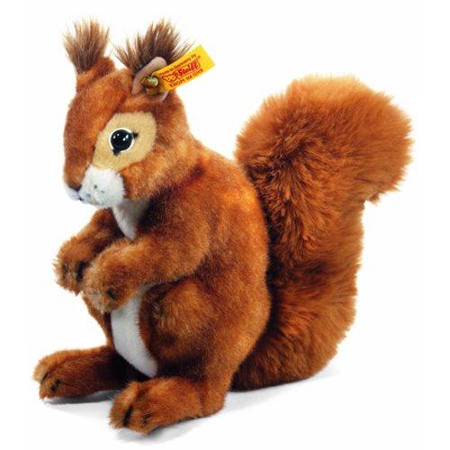 Steiff 045141 - Niki Eichhoernchen aufwartend, 21 cm, rotbraun - Eichhörnchen