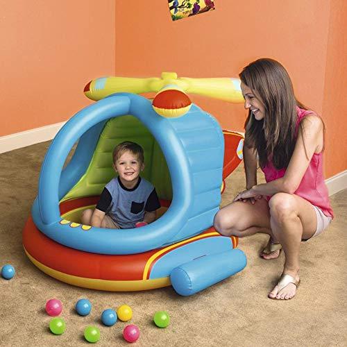 inflatable toys Estate Elicotteri Piscina Gonfiabile per Bambini, Piscina per Bambini Piscina di Palline Marine Piscina di Sabbia, Giocattoli Gonfiabili - 140 × 127 × 89cm A