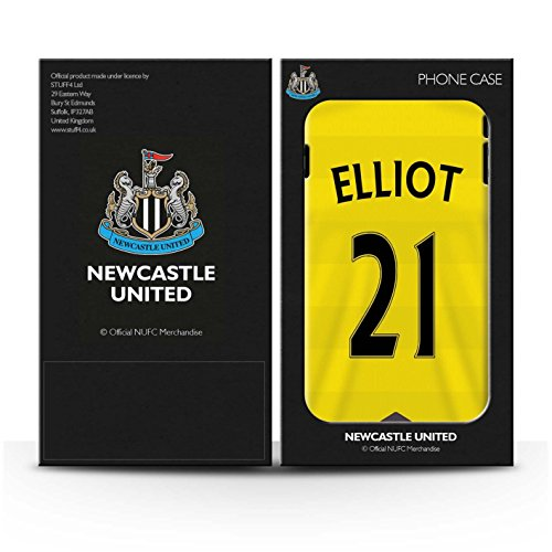 Offiziell Newcastle United FC Hülle / Glanz Snap-On Case für Apple iPhone 6 / Krul Muster / NUFC Trikot Home 15/16 Kollektion Elliot