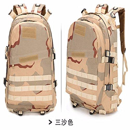 Oxford Pack Outdoor Bergsteigen bag Schulter Taschen für Männer und Frauen wandern Taschen Camouflage Rucksack 46 * 33 * 18 cm, tri-Sand Farbe Tri-Sand Farbe