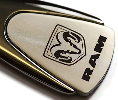 dantegts Dodge Ram Chrome goutte authentique Logo Porte-clés Porte-clés Anneau porte-clés Porte-clés avec cordon 8,3cm L x 2,5cm W