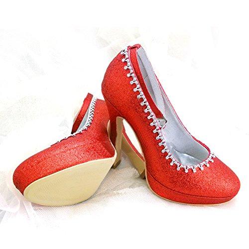 Heel Escarpins pour Red 12cm Minitoo femme 8zvxA